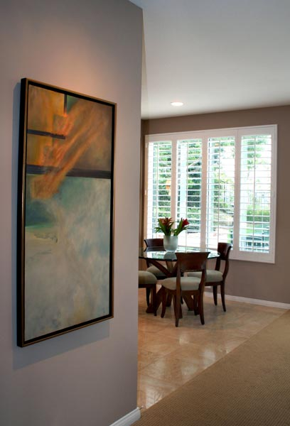 Art Interiors dining room nook entry original painting Elevated Lines