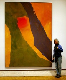 A big abstract modern art piece by Helen Frankenthaler