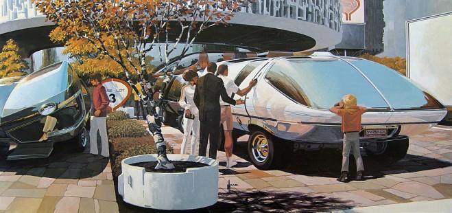 Futurist Car by Syd Mead