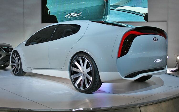 2010 Kia Ray Plug In Hybrid Concept Rear