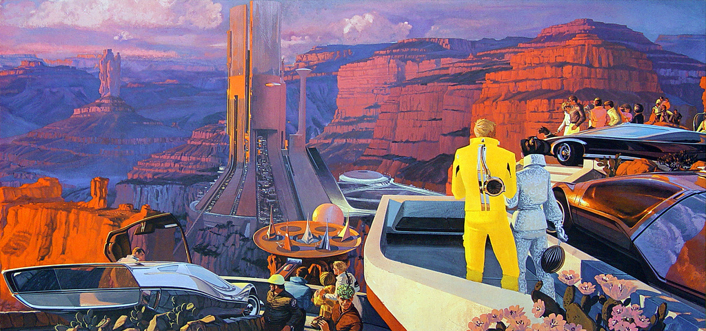 Syd Mead Grand Canyon Future City