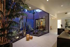 Minimal space use outside-inside desert garden
