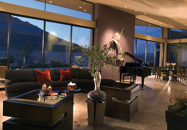 Great room drama with a view at Alta in Palm Springs, CA