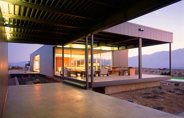 Modern home in Desert Hot Springs, CA by Marmol Radziner Architects