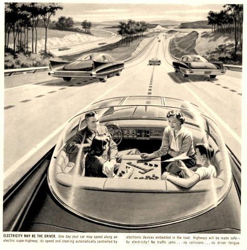 Electric Highways with Automatic Cars