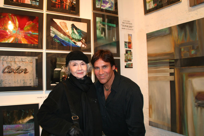 Barbara Singer and Mark Picascio at a gallery reception