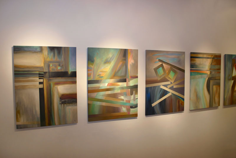 Modern art original paintings by MGPicascio, Fluid Synergy exhibition