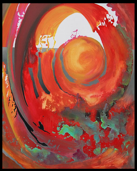 Modern Art Free Flow Abstract Painting MGPicascio
