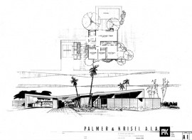 Palm Springs Mid Century desert homes plan