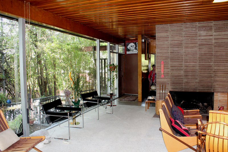 Interior of Dion Neutra's LA home.