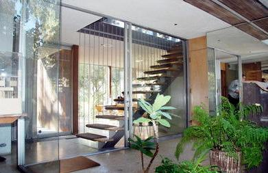 interior staircase as viewed from the center courtyard at VDL House II