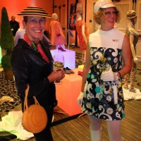 Flow and Mary beth, Braniff Airlines cocktail party reception, Modernism Week, 2011.