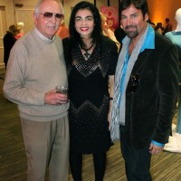 Architect Donald Wexler, Annalisa Capurro, Mark G. Picascio, Braniff Airlines fashion exhibit, Modernism Week 2011, palm Springs, CA.