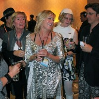 Cocktail Party reception for Braniff Airlines fashion exhibit at Riviera Hotel, Palm Springs, CA, 2011.