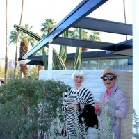 Guest have fun at the Horizon hotel party, Modernism Week, Palm Springs, CA, 2011.