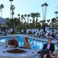 Horizon Hotel, Modernism week, Palm Springs, CA, 2011, pool party.
