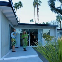 Guest rooms, Horizon Hotel pool party, Modernism Week, 2011, Palm Springs, CA.
