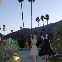Del Marcos Hotel dance with Mary Beth and Marita, Modernism Week, Palm Springs, CA, 2011.