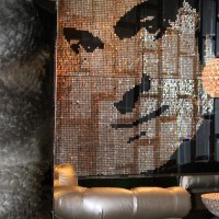 Riveira Hotel, Bob Hope matalic mosaic, Palm Springs, CA. 2011.