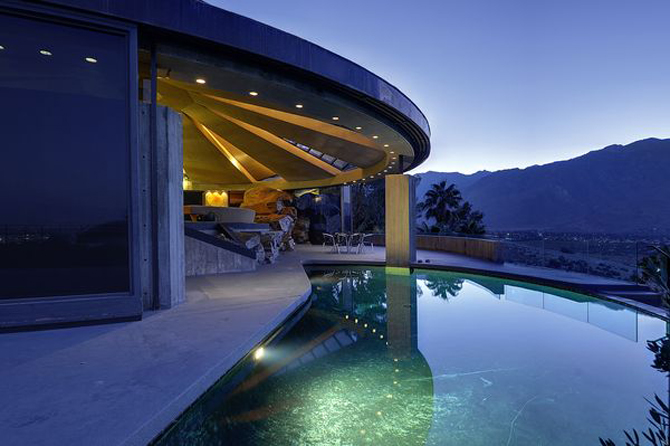 Elrod House Palm Springs Pool Photo by Julius Shulman