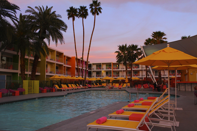 Sagurro Hotel Pool, Palm Springs, CA, Photo by MGPicascio.com