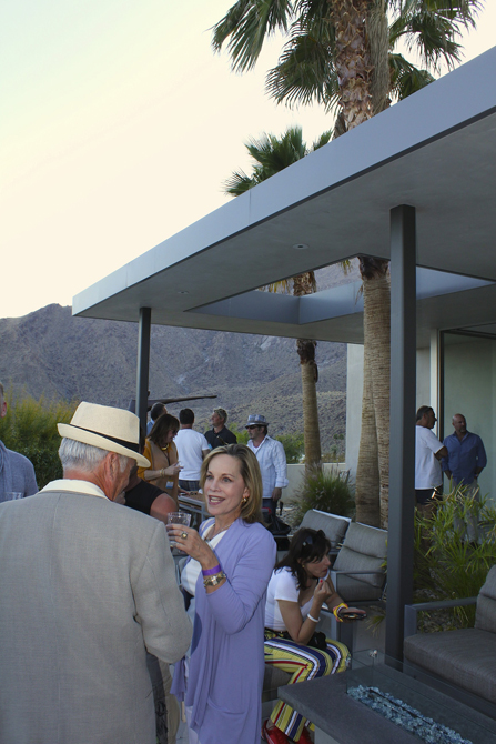 Cocktail reception at Modernism Week, Palm Springs, Schmidt Architecture. Photo by MGPicascio.com