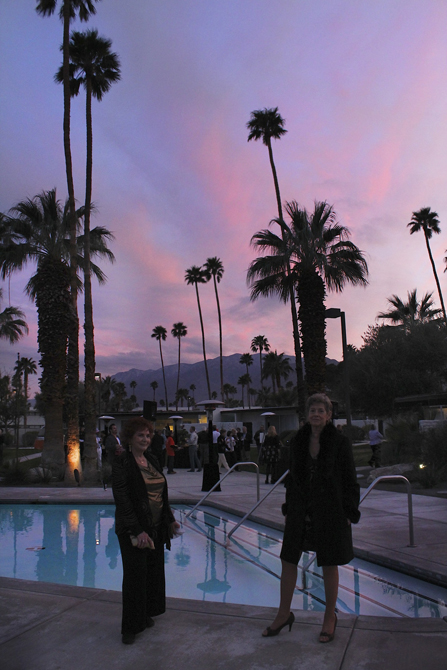 Cocktail party reception at dusk Horizon Hotel, Palm Springs, Modernism Week 2012. Photo by MGPicascio.com