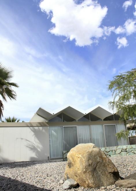 Folded-plate roof design, Wexler Steel House