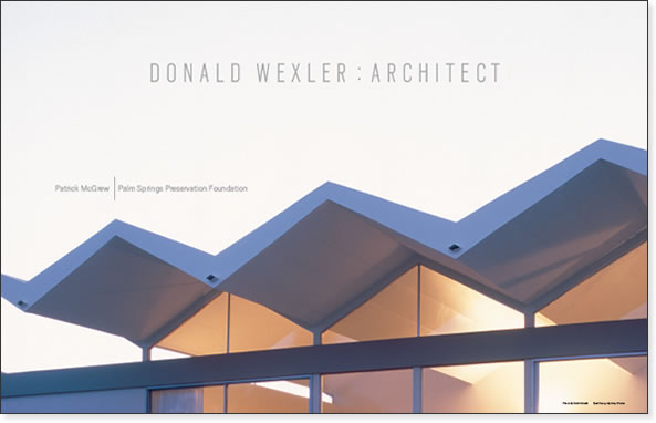 Book by Patrick McGrew, Donald Wexler: Architect
