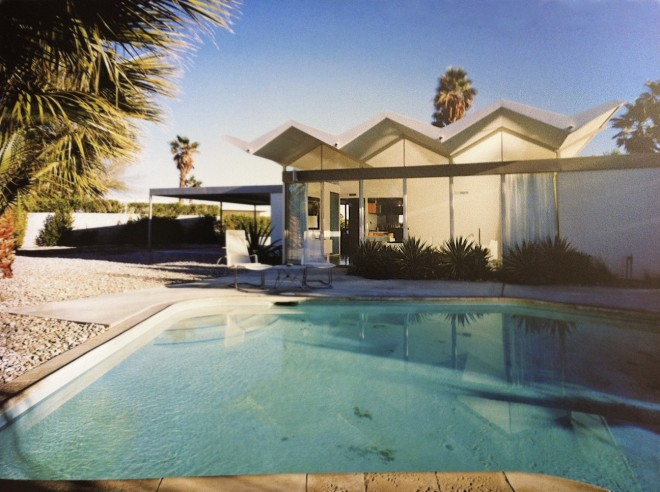 Steel Development Houses designed by Donald Wexler, AIAI. Backyard pool