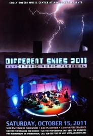 Poster for Different Skies 2011 concert