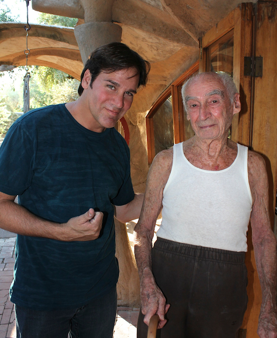 Mark G. Picascio with architect Paolo Soleri at Coasnti in 2011
