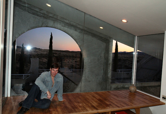 Mark G. Picascio in the Sky Suite at Arcosanti