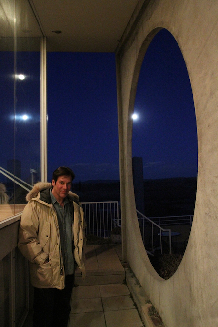 Mark G. Picascio, night time at the Sky Suite, Arcosanti