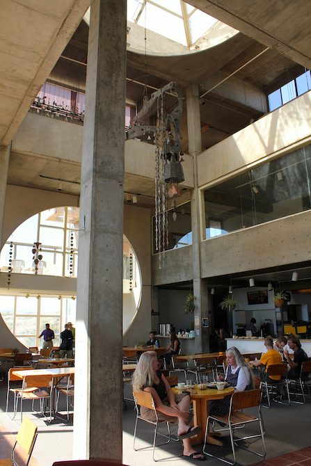 Lunchtime in the main building at Arcosanti