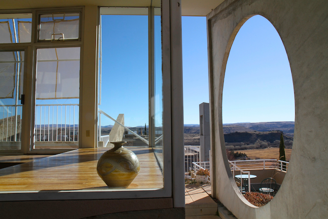 Unique view from the Sky Suite at Arcosanti