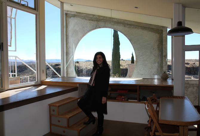 Annalisa Capurro in the Sky Suite, Arcosanti