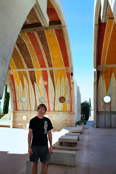 Jeff Buderer under the Vaults at Arcosanti